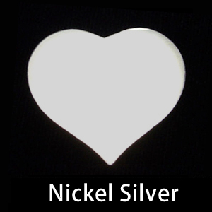 Metal Stamping Blanks Nickel Silver Large Puffy Heart, 20g