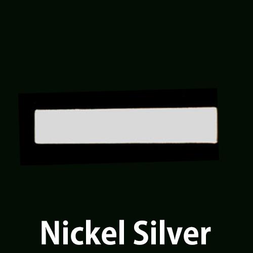 "Metal Stamping Blanks Nickel Silver Rectangle Bar, 30.5mm (1.20"") x 5mm (.20""), 20g"