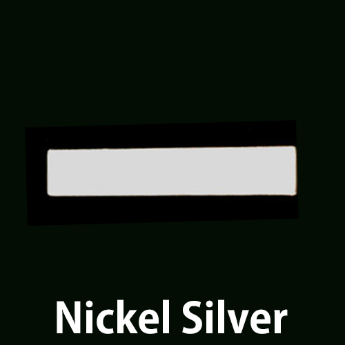 "Metal Stamping Blanks Nickel Silver Rectangle Bar, 30.5mm (1.20"") x 5mm (.20""), 20g"