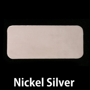 "Metal Stamping Blanks Nickel Silver Rectangle, 44.5mm (1.75"") x 20mm (.79""), 20g"