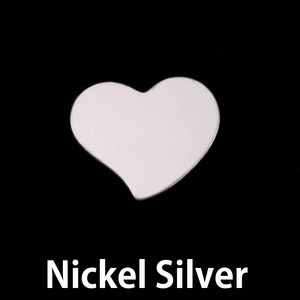 Metal Stamping Blanks Nickel Silver Small Stylized Heart, 20g