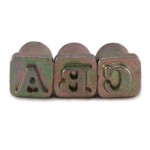 "Enamel, Patina & Resin Alphabet Stamp Set for Leather 1/4"" (6.3mm)"