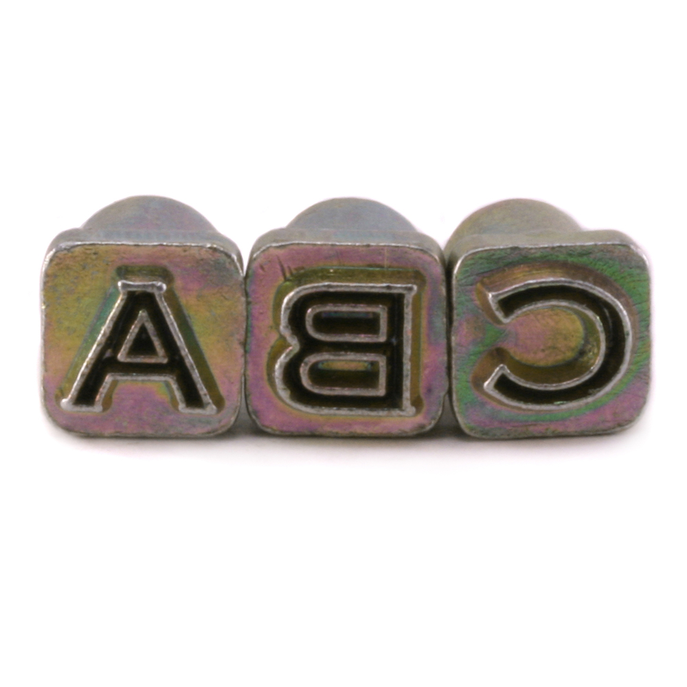 "Enamel & Mixed Media Open Alphabet Stamp Set for Leather 1/4"" (6.3mm)"