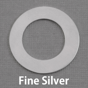 "Metal Stamping Blanks Fine Silver 1"" Washer, 5/8"" ID, 20g"