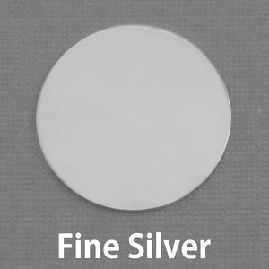 "Metal Stamping Blanks Fine Silver 1"" (25mm) Circle, 20g"
