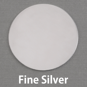 "Metal Stamping Blanks Fine Silver 1 1/4"" (32mm) Circle, 20g"