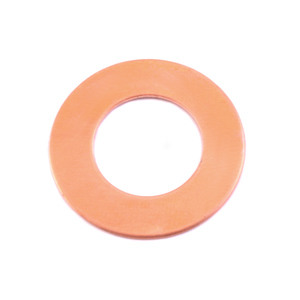 "Metal Stamping Blanks Copper Washer, 22mm (.87"") with 12.7mm (.51"") ID, 24g , Pack of 5"
