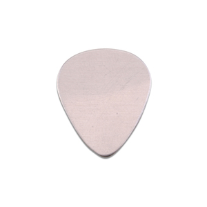 "Metal Stamping Blanks Aluminum ""Guitar Pick"", 20mm (.79"") x 17mm (.67""), 18g"
