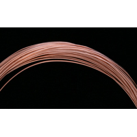 Wire & Sheet Metal 26g Rose Gold Filled, Round, Dead Soft Wire -1/4 oz (~22.5 ft)