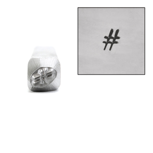 Metal Stamping Tools # Hashtag Metal Design Stamp, 1/8""