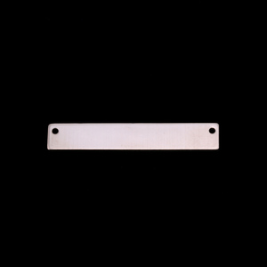 "Metal Stamping Blanks Nickel Silver Rectangle Bar with Holes, 30.5mm (1.20"") x 5mm (.20""), 24g"
