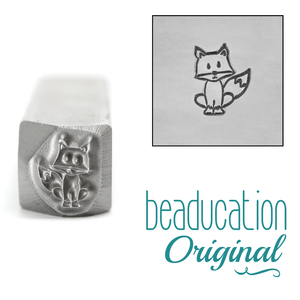 Metal Stamping Tools Fox Metal Design Stamp, 7mm - Beaducation Original