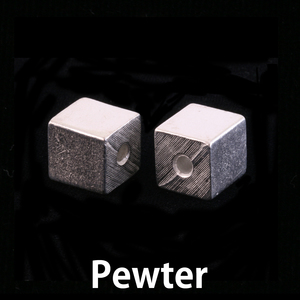 Metal Stamping Blanks Pewter Small Cube with Hole