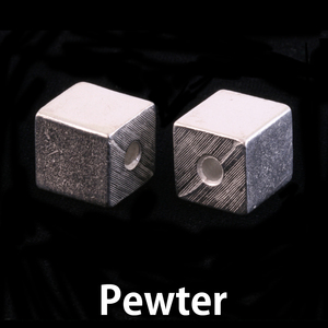 Metal Stamping Blanks Pewter Large Cube with Hole
