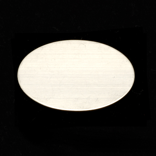 Metal Stamping Blanks Sterling Silver Oval, (22mm x 29mm), 24 gauge