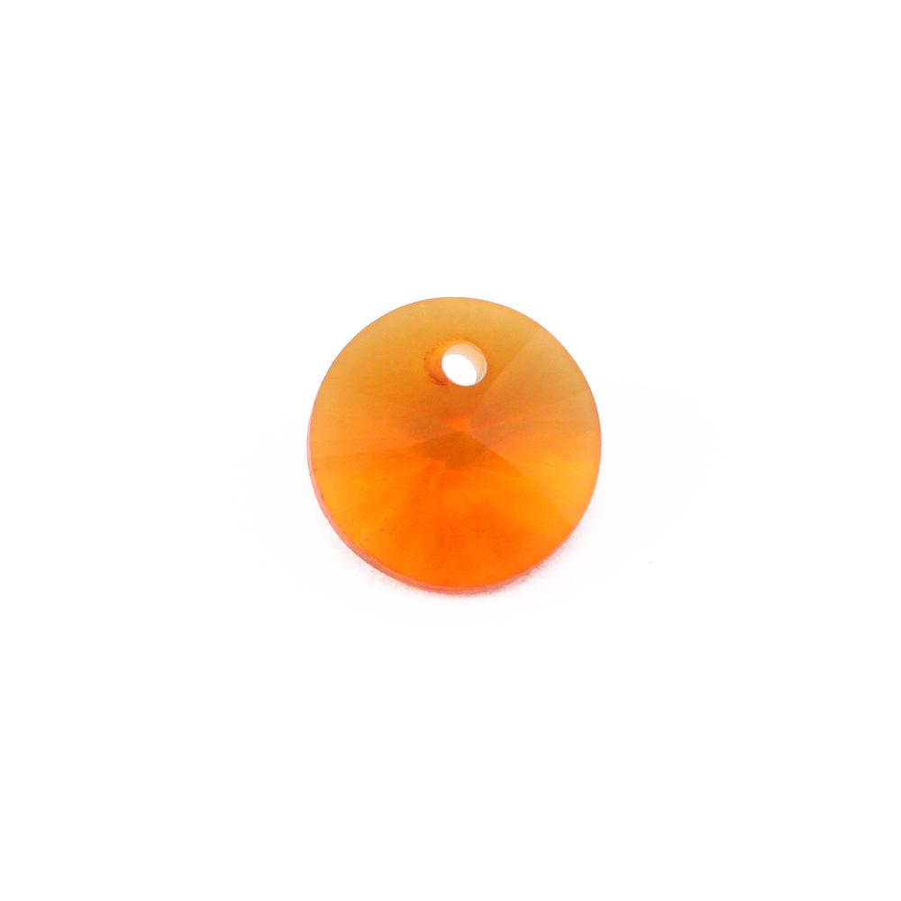 Crystals & Beads Swarovski Xilion Round Crystal  (Topaz/Tangerine - NOVEMBER)