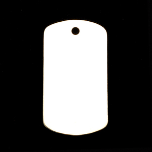 "Metal Stamping Blanks Sterling Silver Large Dog Tag, 35mm (1.38"") x 18mm (.71""), 24g"