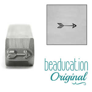 Metal Stamping Tools Small Classic Arrow Metal Design Stamp, 6.5mm - Beaducation Original