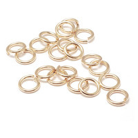 Chain & Jump Rings Gold Filled 4.5mm I.D. 21 Gauge Jump Rings, pk of 10