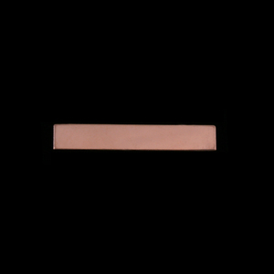 "Metal Stamping Blanks Rose Gold Filled 1.20"" Rectangle, 20g"