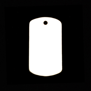 "Metal Stamping Blanks Sterling Silver Medium Dog Tag, 29mm (1.14"") x 16mm (.63""), 24g"