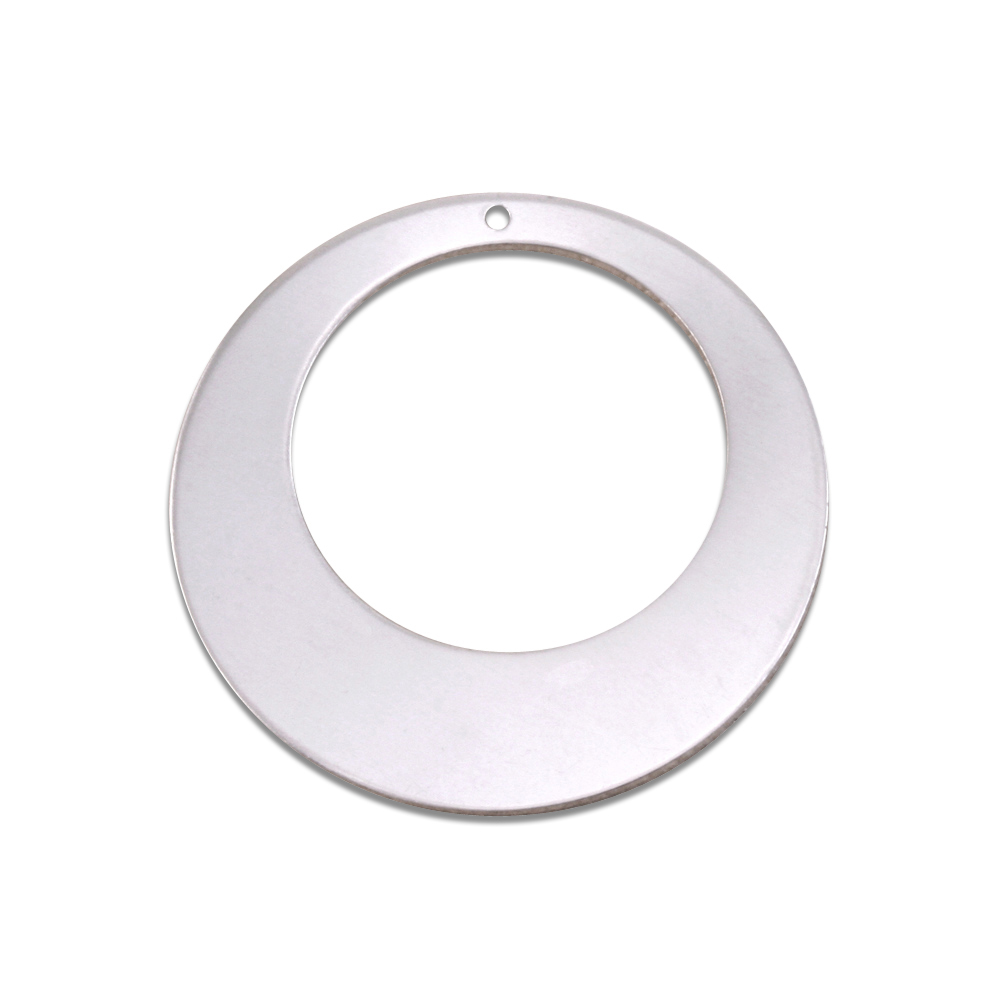 "Metal Stamping Blanks Aluminum Off Centered Washer, 32mm (1.25"") with 20mm (.79"") ID, 18g"