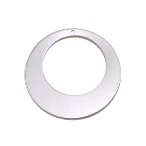 "Metal Stamping Blanks Aluminum Off Centered Washer, 32mm (1.25"") with 20mm (.79"") ID, 18g, Pk of 5"