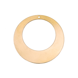 "Metal Stamping Blanks Brass Off Centered Washer with Hole, 32mm (1.25"") with 20mm (.79"") ID, 24g"