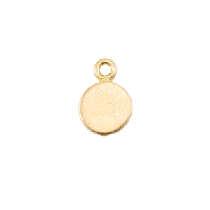 Metal Stamping Blanks Brass Tiniest Circle Pendant (6.7mm)