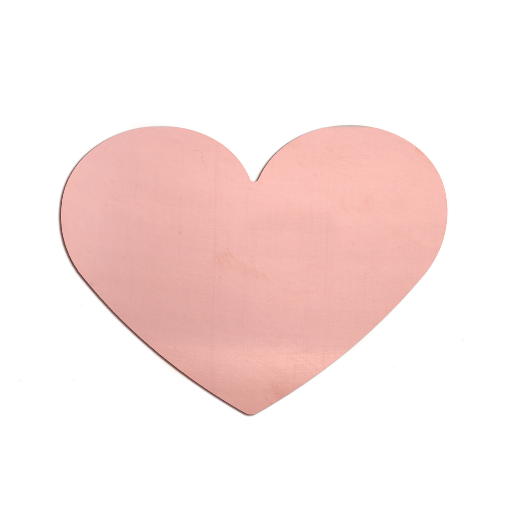 "Metal Stamping Blanks Copper Classic Heart, 61mm (2.4"") x 53.7mm (2.11""), 24g"