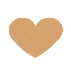 "Metal Stamping Blanks Brass Classic Heart, 61mm (2.4"") x 53.7mm (2.11""), 24g"