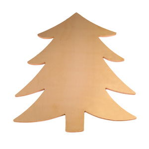 "Metal Stamping Blanks Brass Tree Blank, 58.4mm (2.3"") x 51.4mm (2.04""), 24g"