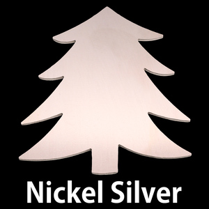 "Metal Stamping Blanks Nickel Silver Tree Blank, 58.4mm (2.3"") x 51.4mm (2.04""), 24g"