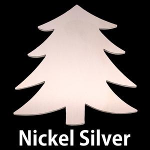 """Metal Stamping Blanks Nickel Silver Tree Blank, 58.4mm (2.3"""") x 51.4mm (2.04""""), 24g"""