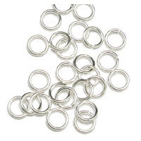 Jump Rings Sterling Silver 4.5mm I.D. 21 Gauge Jump Rings, pk of 50