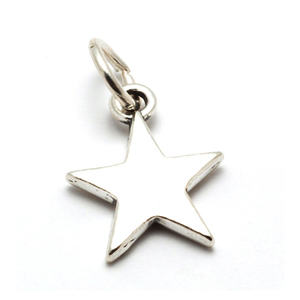 Charms & Solderable Accents Sterling Silver Star Charm