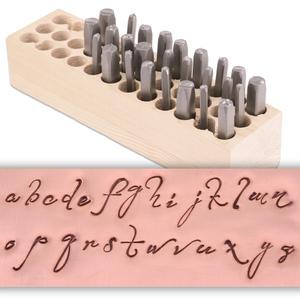 Metal Stamping Tools Script Monogram Lowercase Letter Stamp Set
