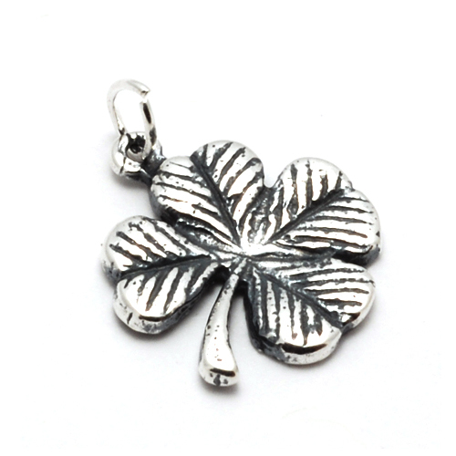 Charms & Solderable Accents Sterling Silver 4 Leaf Clover Charm