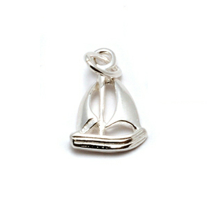 Charms & Solderable Accents Sterling Silver Sailboat Charms