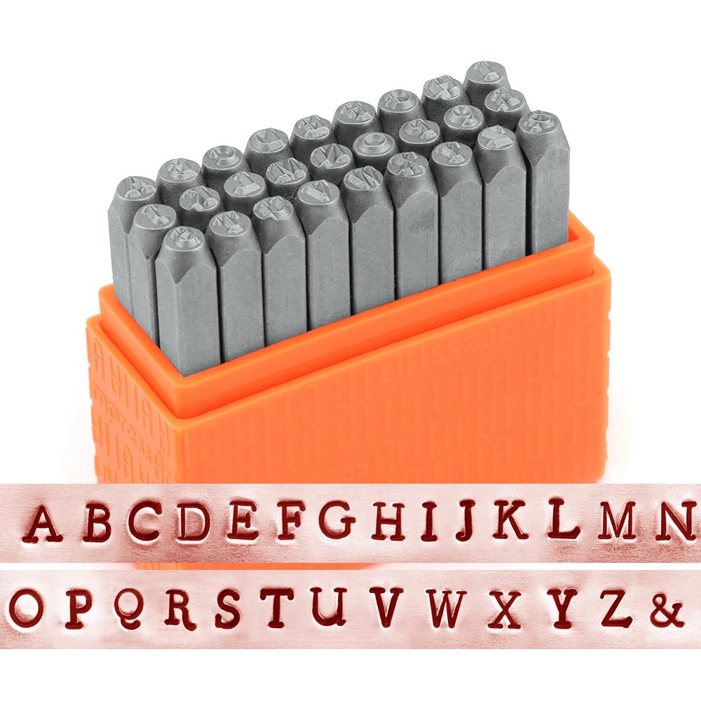 Metal Stamping Tools ImpressArt Basic Uppercase Newsprint Letter Stamp Set