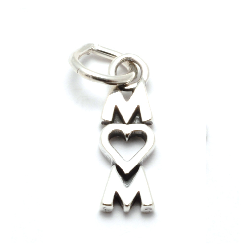 Charms & Solderable Accents Sterling Silver MOM Charm