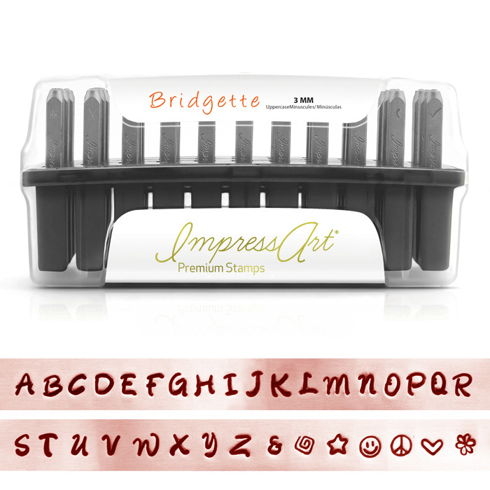 "Metal Stamping Tools ImpressArt Bridgette Uppercase Set for Stainless Steel 1/8"" (3mm)"