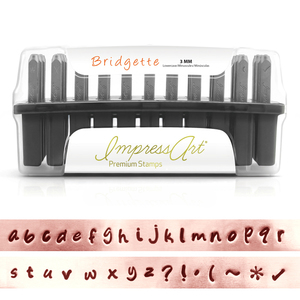 "Metal Stamping Tools ImpressArt Bridgette Lowercase Set for Stainless Steel 1/8"" (3mm)"