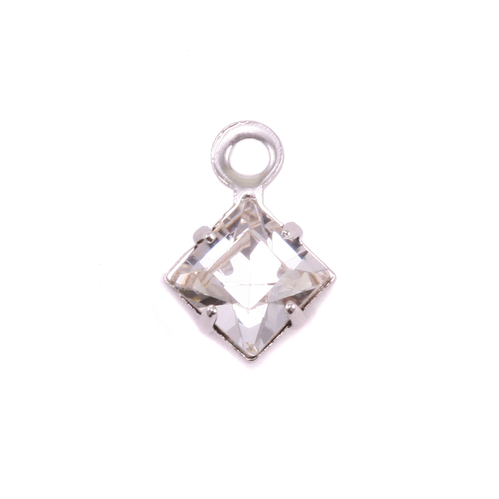 Charms & Solderable Accents Swarovski Xilion Square Crystal (Diamondique - APRIL), Pack of 4  *DISCONTINUED