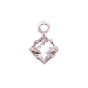 Charms & Solderable Accents Swarovski Xilion Square Fancy Crystal (Diamondique - APRIL)