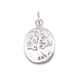 Charms & Solderable Accents Sterling Silver Tree of Life with Heart Charm