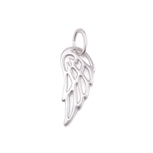 Charms & Solderable Accents Sterling Silver Open Wing Charm