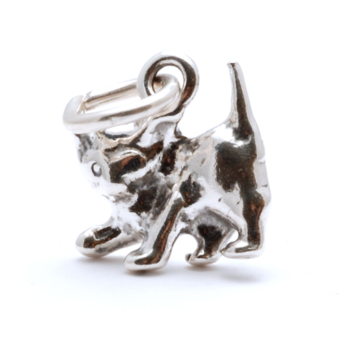Charms & Solderable Accents Sterling Silver Kitten Charm