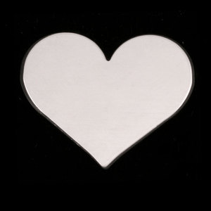 "Metal Stamping Blanks Sterling Silver Classic Heart, 26.5mm (1.04"") x 21.5mm (.84""), 20g"