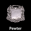 Vintage Style Pewter Pendant #5
